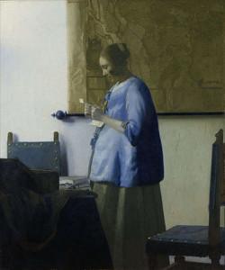 Johannes Vermeer, vrouw die een brief leest, ca. 1662-1663