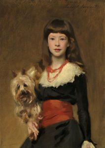 John Singer Sargent, Miss Beatrice Townsend, cursus portret schilderen laat impressionistische stijl