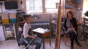 TV reportage EenVandaag op het atelier van Liesbeth van Keulen met Corinne SchotTV reportage EenVandaag op het atelier van Liesbeth van Keulen met Corinne Schot
