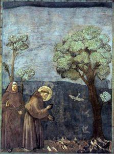 Giotto, De heilige Franciscus predikt voor de vogeltjes, Portretschool Amsterdam