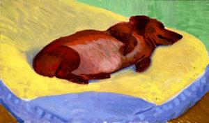 Hockney, Dog Portrait