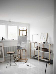 Atelier volgens het Zweedse woonwarenhuis.