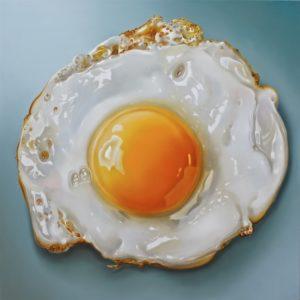 Tjalf Sparnaay, Fried egg 2013, 80 x 80 cm