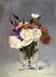 Edouard Manet, bloemen in een kristallen vaas, 1816, Portretschool Amsterdam