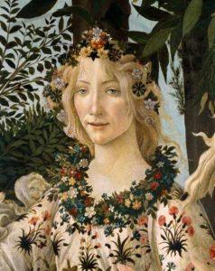 Botticelli, La Primavera, detail, Portretschool Amsterdam