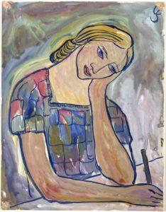 Charlotte Salomon, portret van klasgenootje op de academie
