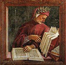 Dante duikt in zijn boeken