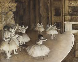 Edgar Degas. Répétition d'un ballet sur la scène, olieverf op doek, 65 x 81 cm