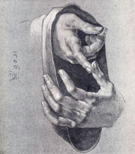 Handen getekend door Albrecht Dürer, Portretschool Amsterdam