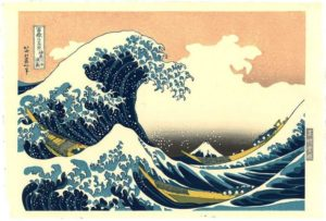 Hokusai, De grote golf van Kanagawa. Portretschool Amsterdam