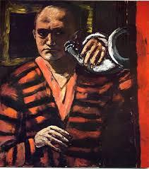 Max Beckman, zelfportret met trompet
