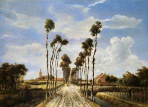 Meindert Hobbema, Het laantje van Middelharnis, Portretschool Amsterdm