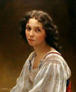 Émile Munier, portret van een meisje, cursus klassiek portret, Portretschool Amsterdam