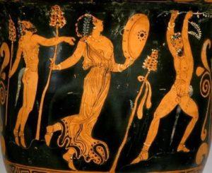 Satyrs en Meneaden in een extatische dans