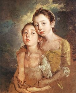 Thomas Gainsborough, The Artist's Daughters with a Cat, Portretschool Amsterdam