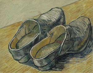 Van Gogh, een paar leren klompen