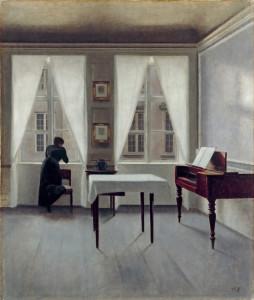 Vilhelm Hammershoi, Interieur, Strandgade 30, 1901, Portretschool Amsterdam