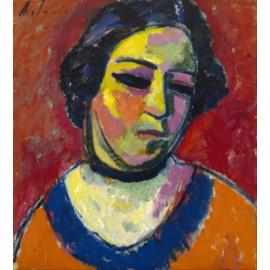 Alexej von Jawlensky, Portraet einer Frau, 1911, Portretschool Amsterdam