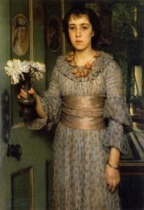 Anna Alma Tadema, door Laurens Alma Tadema, 1883, Portretschool Amsterdam