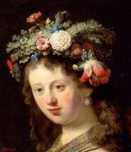 Rembrandt, Saskia als Flora, Portretschool Amsterdam
